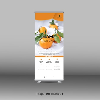 Stand nuovo modello standee banner roll up giallo