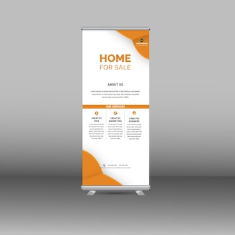 Stand roll up banner modello standee design