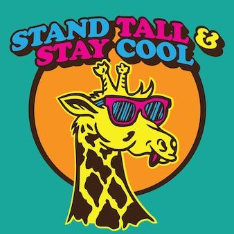 Alzati in piedi e mantieni la calma giraffa