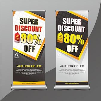 Design di promozione banner in piedi
