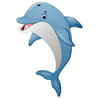 Cartone animato di delfino in piedi
