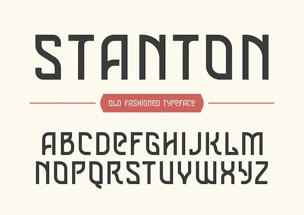 Carattere tipografico vintage decorativo stanton
