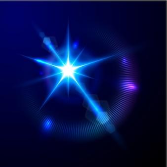 Stella bokeh luminoso