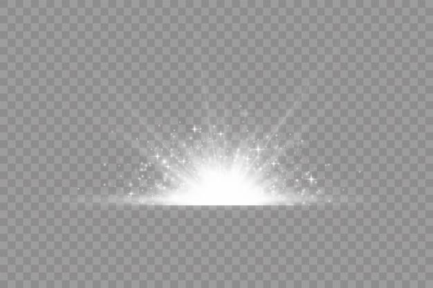 Esplosione di stelle, luci bianche incandescenti