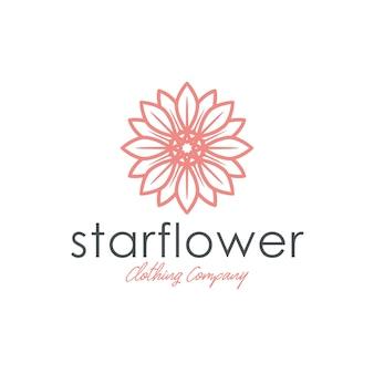Modello di logo di moda fiore stella