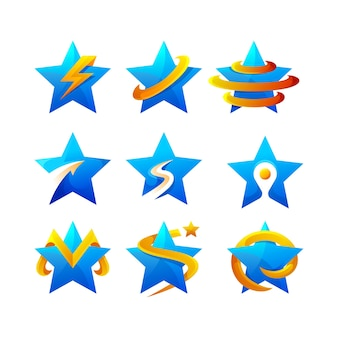 Collezione logo sfumato stella