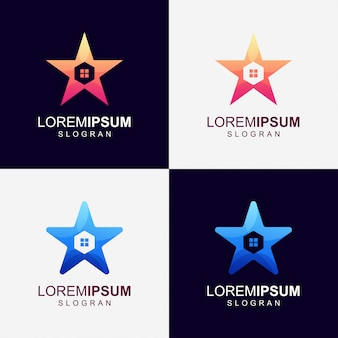 Logo stella gradiente colore casa