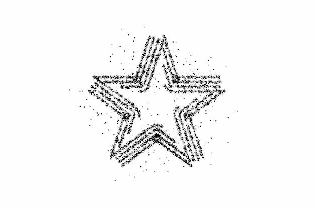 Icona della stella vettore. simbolo piatto semplice. illustrazione perfetta del pittogramma sullo sfondo delle particelle.