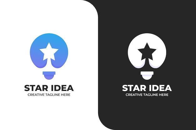 Logo astratto idea stella