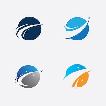 Modello di design del logo della stella, design dell'illustrazione di vettore del logo della stella veloce