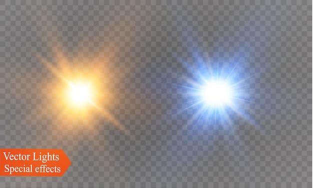Set di stelle, effetto luce
