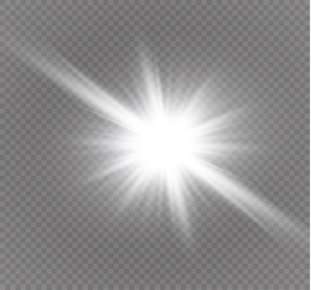 Stella su uno sfondo trasparente illustrazione