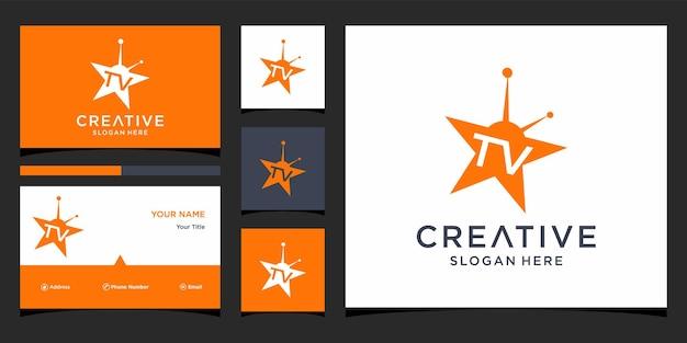 Design del logo della stella tv