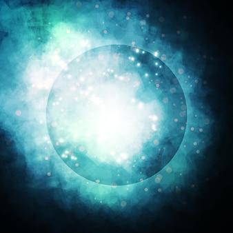 Sfondo stellato, ricca nebulosa che forma una stella, illustrazione astratta colorata
