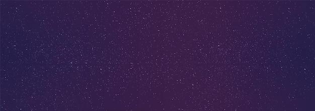 Sfondo notte stellata con stelle brillanti e galassia nebulosa.