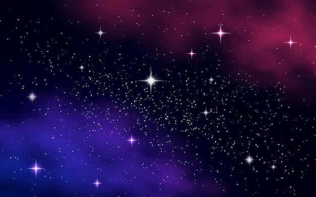 Cielo stellato con nebulosa