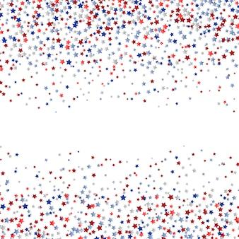 Stelle confetti in rosso bianco e blu