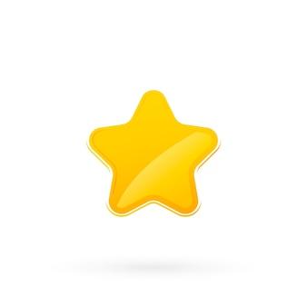 Icona piana di stelle. stella d'oro. icona stelle dorate lucide