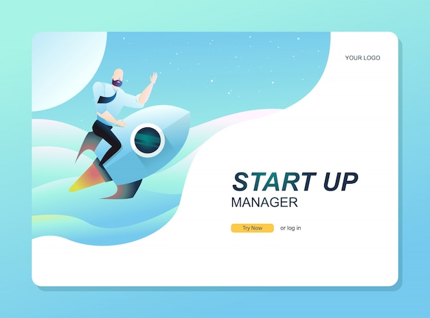 Pagina di destinazione iniziale. sito web di successo aziendale
