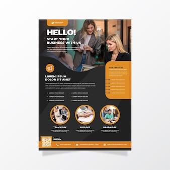 Inizia il tuo modello di stampa poster aziendale