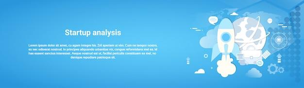 Banner orizzontale di web di concetto di analisi di avvio