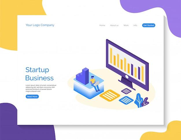 Sfondo della pagina di destinazione business startup