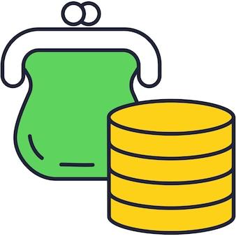 Fondo di avvio e icona di vettore piatto di investimento