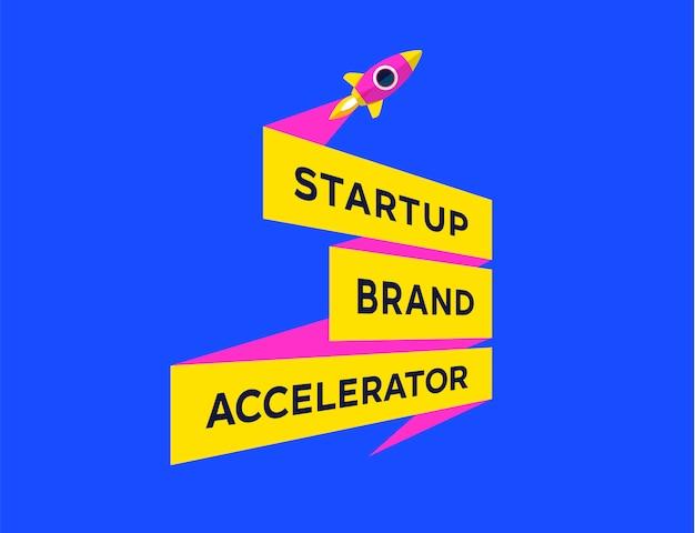 Progettazione grafica di avvio. startup brand accelerator