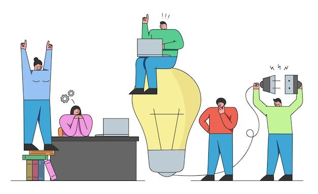 Idee di avvio sviluppo di nuove soluzioni e lancio di nuove attività