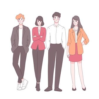Illustrazione del team di avvio