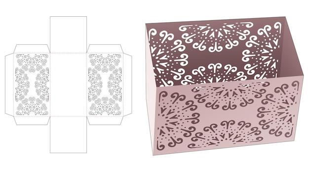 Scatola di cancelleria con modello fustellato mandala stampato