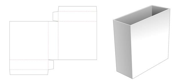Modello fustellato di scatola di latta di cancelleria