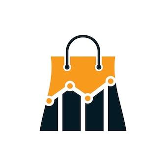 Design del logo del negozio di statistiche