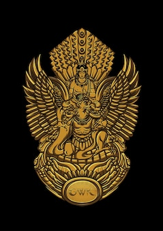 Statua del dio vishnu bali