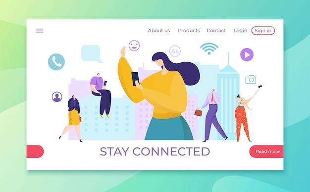 Rimani connesso ai media internet