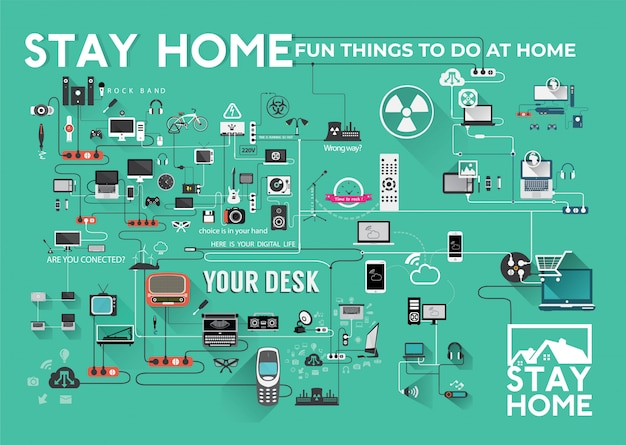 Stay home infographic