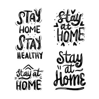 Resta a casa lettering
