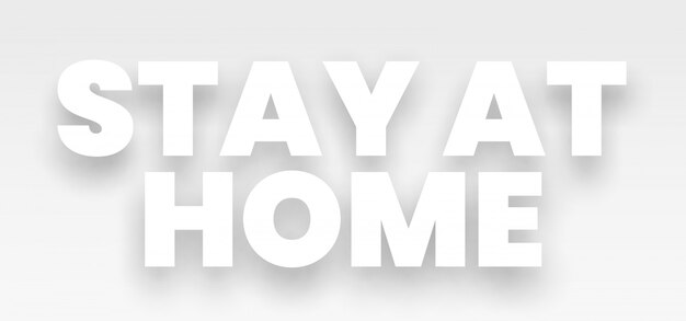 Resta a casa. slogan di lotta al coronavirus.