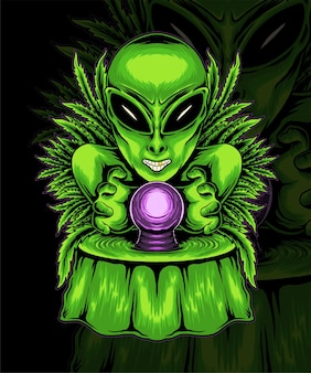 Stayhigh illustrazione vettoriale di alieni