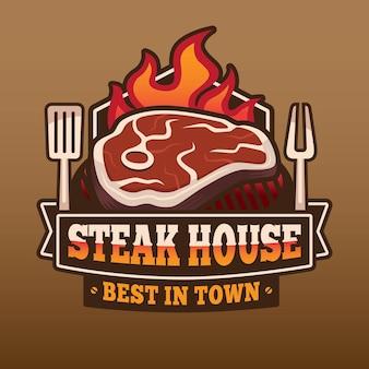 Steak house logo design