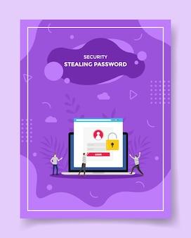 Rubare il concetto di password per il modello di volantino