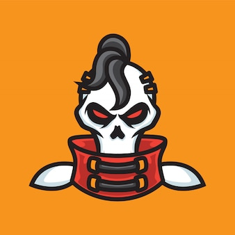 Logo mascotte steam punk