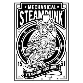 Gufo di steampunk
