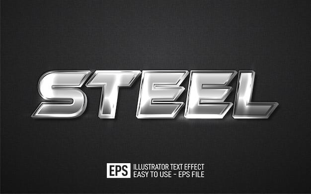 Modello di effetto stile modificabile con testo in acciaio 3d