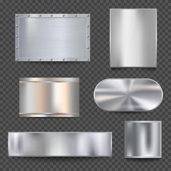 Set di banner in acciaio