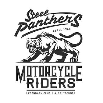 Steel panthers, club di motociclisti della california americana