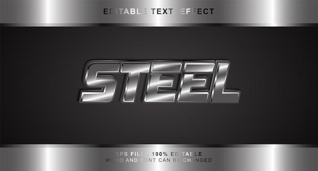 Effetto testo in acciaio modificabile