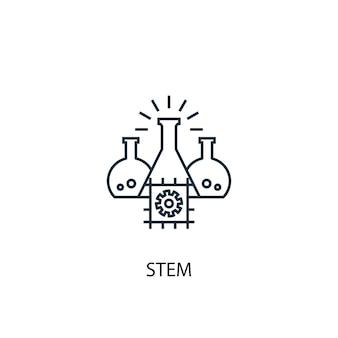 Icona della linea del concetto di stelo. illustrazione semplice dell'elemento. disegno di simbolo di struttura del concetto di stelo. può essere utilizzato per ui/ux mobile e web