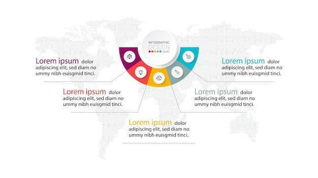 Presentazione passo dopo passo. progettazione infografica
