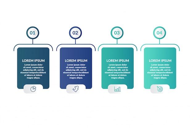 Modello di infografica passo per la presentazione